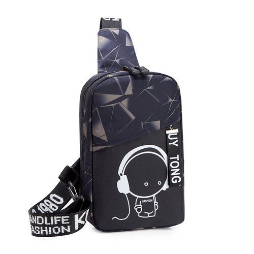 Foto Produk Freeknight Tas Selempang Pria Luminous Casual Fashion Sling Bag TS409 - Hitam dari Freeknight