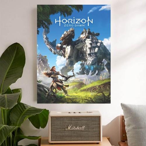 "Foto Produk ""Horizon Zero Dawn, ver.2"" Poster Kayu (30x22) dari Arkham Inc"