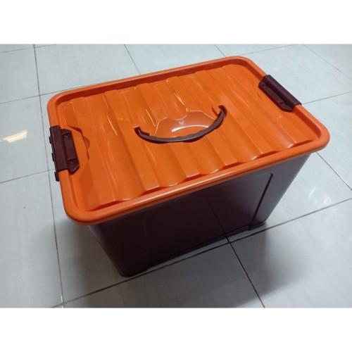 Foto Produk Box Container Dgn Handle 40 Liter (Coklat) / Box Container 40L dari secretbasesby