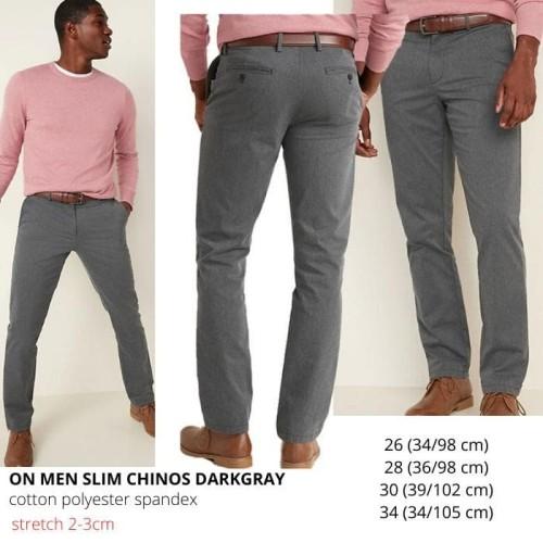 Foto Produk Celana Branded Pria - OLD NAVY MEN SLIM CHINOS DARKGRAY dari Boss Productions :)