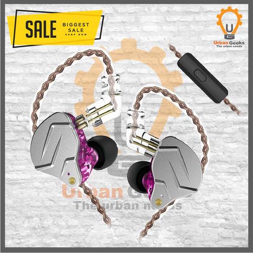 Foto Produk KZ ZSN PRO with MIC Earphone In Ear Earphone Hybrid 1BA 1DD HIFI Bass - Purple, Earphone dari Urban Geeks