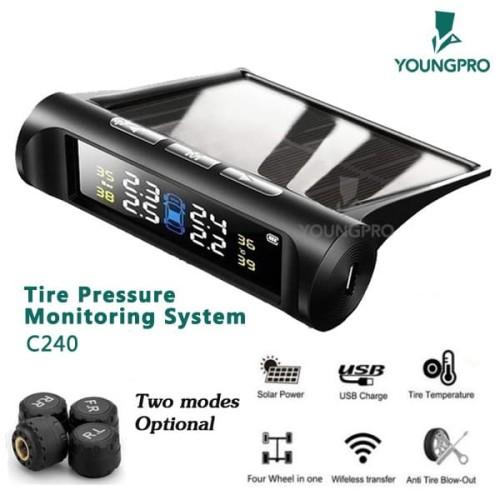 Foto Produk Youngpro C240 Pengukur Tekanan Ban Sistem LCD Digital Tenaga Surya dari YOUNGPRO INDONESIA