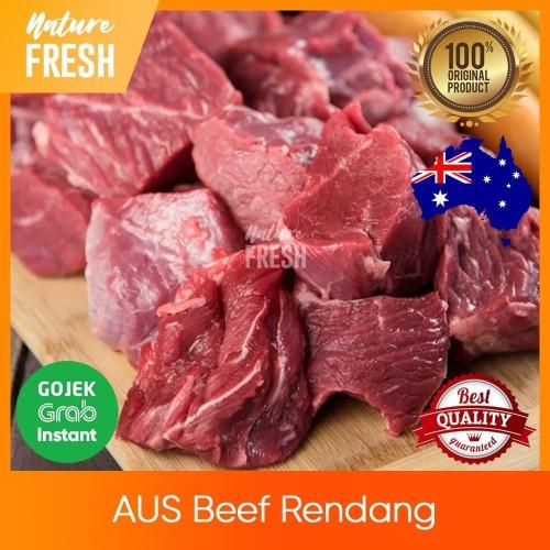Foto Produk Daging Sapi Rendang AUS Beef Import - AUS Topside Beef Stew Rawon - 500gr dari NatureFresh