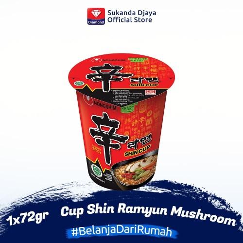 Foto Produk Nong Shim Cup Shin Ramyun Spicy Mushroom 72 gr dari Sukanda Djaya Home