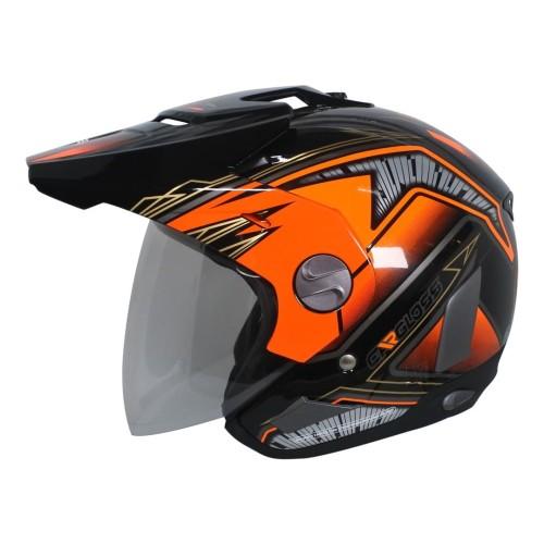 Foto Produk Helm Cargloss Former Motosport Orange - Deep black - XL dari Helm Cargloss