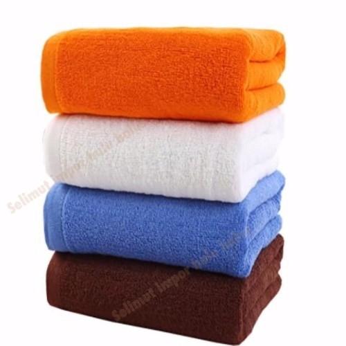 Foto Produk Handuk Mandi Dewasa Handuk Polos Dewasa Ukuran 70x140 cotton 100% - Putih dari asri yasashii