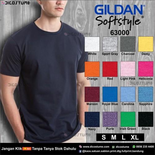 Foto Produk Kaos Polos Gildan Softstyle 63000 - S, M, L, XL dari Dicostume