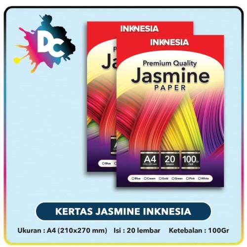 Foto Produk Kertas Jasmine Inknesia Warna dan Gold A4 20 Lembar / Kertas Undangan - krem dari Dunia Cetak