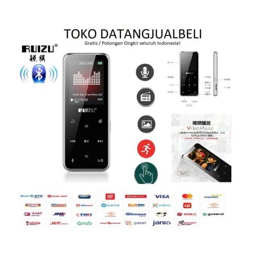 Foto Produk Ruizu X16 Bluetooth HiFi DAP MP3 Player 8GB - Black dari datangjualbeli