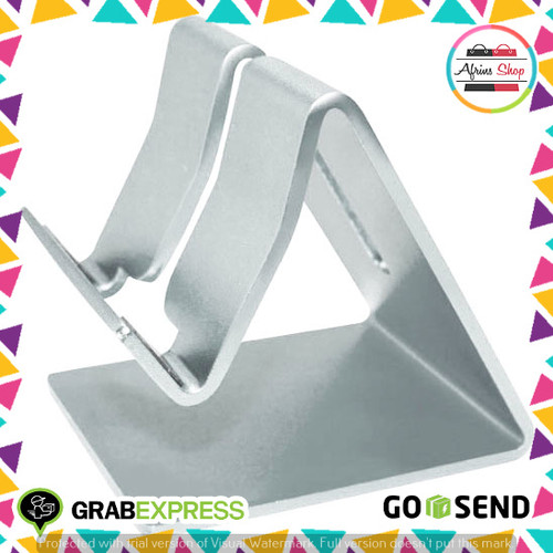 Foto Produk Docking Mobile Mate Smartphone Tablet Stand Holder Aluminium AP-4S - Silver dari The AfrinS