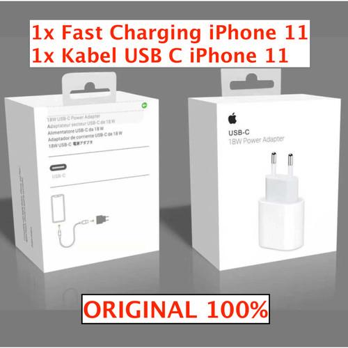 Foto Produk apple fast charging 18w watt original 100% type C iphone X XS XS max dari Original New
