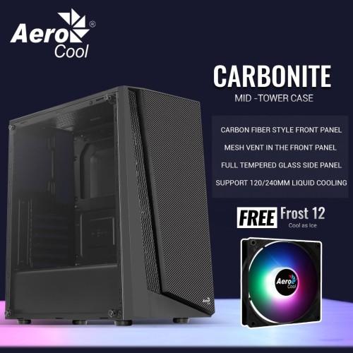 Foto Produk AEROCOOL CARBONITE [1FAN] ATX dari silicon ONE Computer