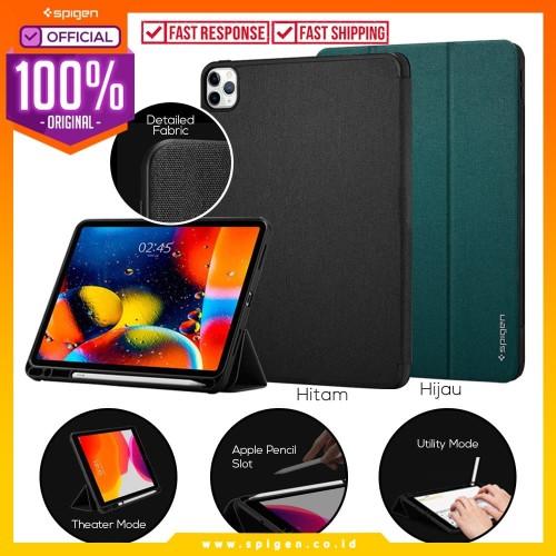 """Foto Produk Case iPad Pro 11""""(2020/2018) Spigen Urban Fit Fabric Flip Cover Casing - Hitam dari Spigen Official"""