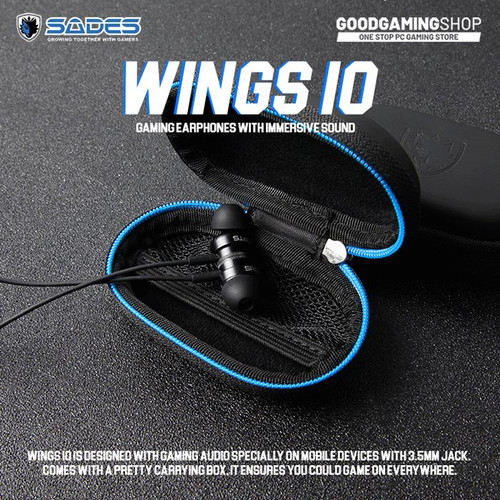 Foto Produk Sades Wings 10 - Gaming Earphone dari Goodgamingshop