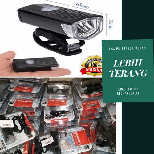 Foto Produk LAMPU SEPEDA DEPAN CREE LED 300 RECHARGEABLE USB - LAMPU DEPAN SEPEDA dari Afiqa_Store