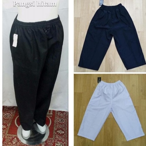 Foto Produk POLOSAN KATUN Celana Sirwal / Pangsi / celana cingkrang Panjang - Hitam dari kayser official