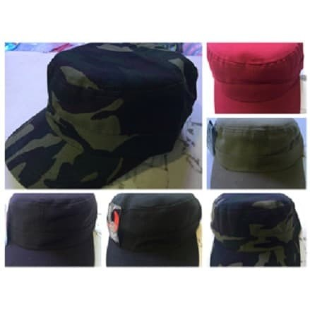 Foto Produk topi komando polos loreng camo plain vintage army military cadet style - Navy dari kayser official