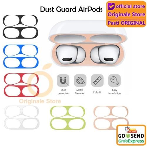 Foto Produk AirPods Pro / AirPods Case Dust Guard Gold Plate Metal Sticker - AirPods Pro, Black dari Originale Store