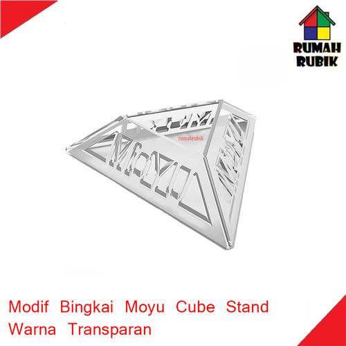 Foto Produk Modif Bingkai Model Moyu / Moyu Cube Stand Transparent dari Rumah Rubik