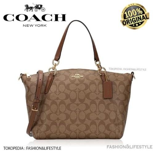 Foto Produk Coach Signature Small Kelsey Khaki Saddle Hand Bag Original 100% dari Fashion&LifeStyle