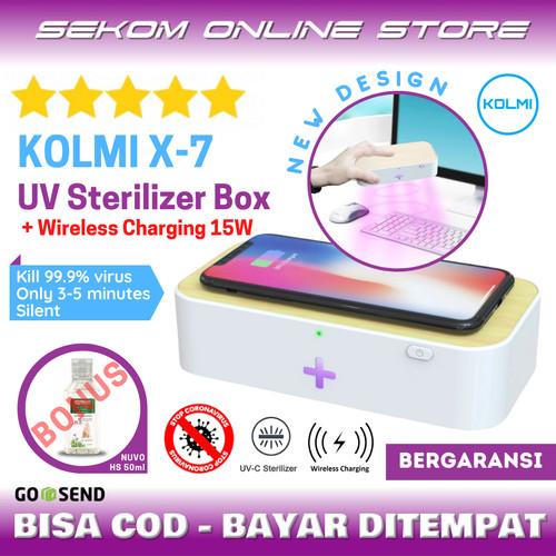 Foto Produk KOLMI X7 UV Sterilizer Disinfection Box With Wireless Charger 15W dari SEKOM ONLINE STORE