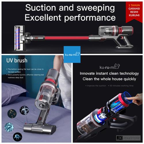 Foto Produk KURUMI KV-06 Cordless Stick Vacuum Cleaner with Bed & Mop Brush - Hijau dari JekaStore