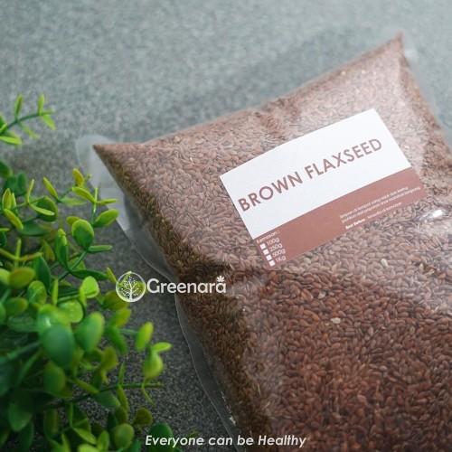Foto Produk Natural Brown Flaxseed 500gr dari Greenara