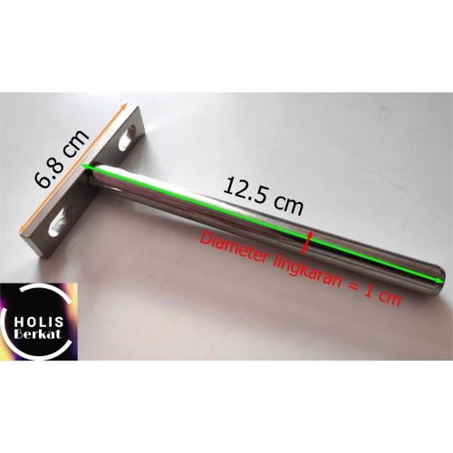 Foto Produk Penyangga Ambalan Besi T Bracket Lingkaran/Bulat (Penahan Rak Dinding) dari holis berkat