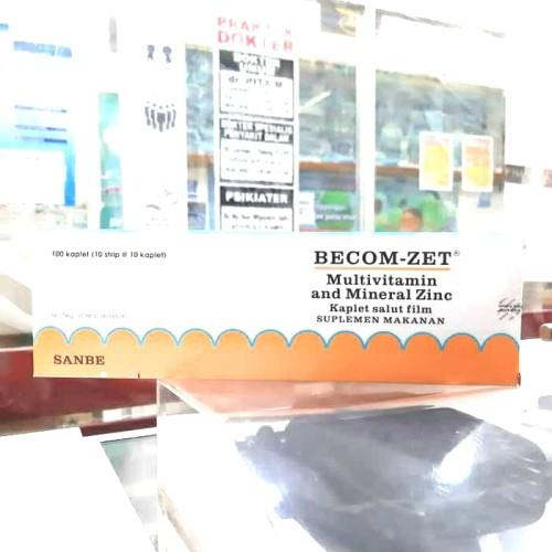 Foto Produk BECOM-ZET (isi 100 kaplet) Multivitamin dan Daya Tahan Tubuh dari Nusantara-Farma