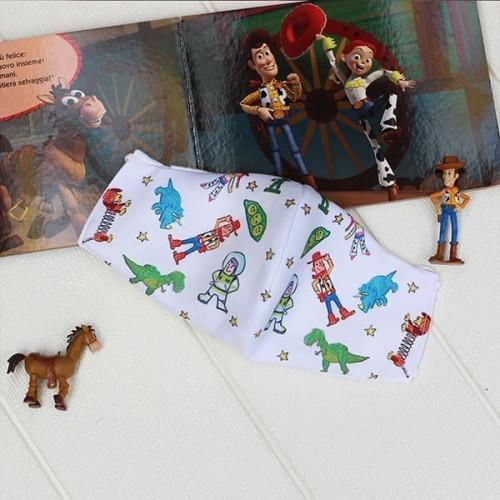Foto Produk Masker kain katun bamboo 3ply motif Toys Story sz anak dari mabelleid