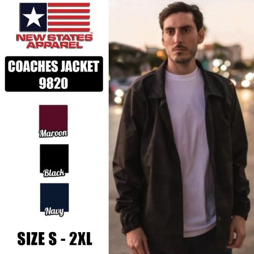 Foto Produk Coaches Jacket New States Apparel original 9820 - Maroon, S dari Kaos Polos Theobald