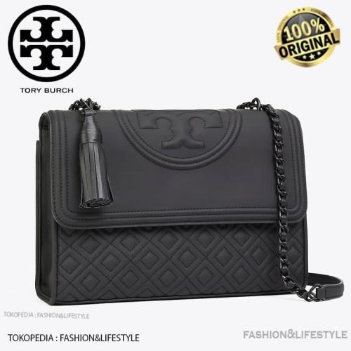 Foto Produk Tory Burch Fleming Convertible Black Matte Shoulder Bag Original 100% dari Fashion&LifeStyle