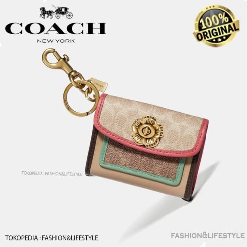 Foto Produk Coach Mini Wallet Parker Charm Colorblock with Keychain Original 100% dari Fashion&LifeStyle