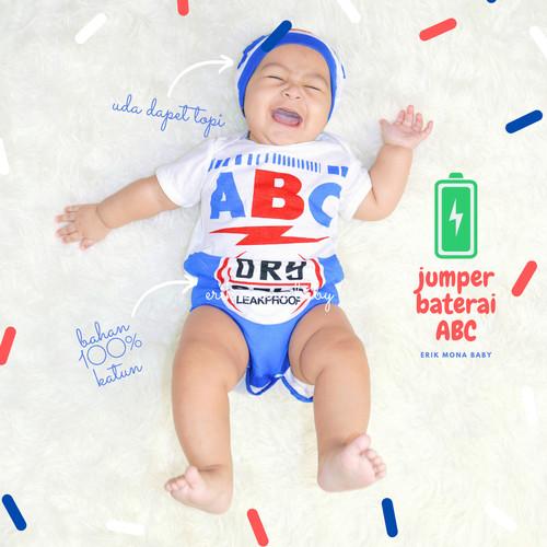 Foto Produk baju bayi jumper bayi karakter baterai ABC lucu - s dari ermon baby and kids