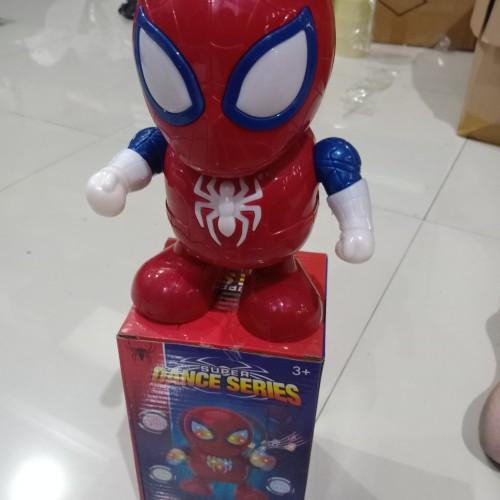 Foto Produk mainan robot dance IRONMAN SPIDERMAN BUMBLEBEE SUPER HERO - Spidertgnputih dari Ahokyahop