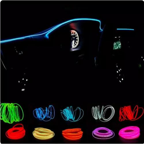 Foto Produk Lampu Ambience Light Dashboard Interior Mobil Mobil 2 Meter Neon - merah 2 meter dari Rawawa Djojo Makmur