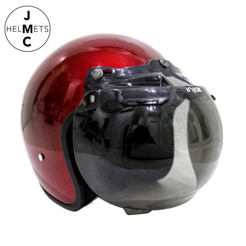 Foto Produk Helm Bogo Retro Polos Maroon SNI dari JMC Helmet