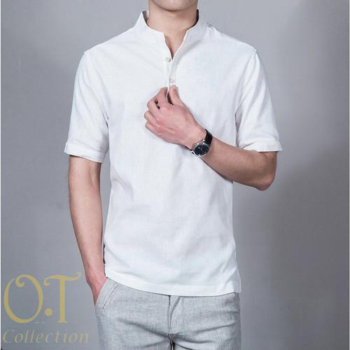 Foto Produk [koko syarif white OT] baju koko pria katun twill lengan pendek putih - Putih, M dari FASHIONISTA's GROSIR