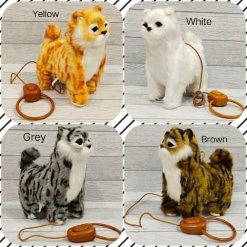 Foto Produk Mainan Edukasi Anak Simulasi Boneka Kucing Berjalan dan bersuara - WHITE dari Three Acc