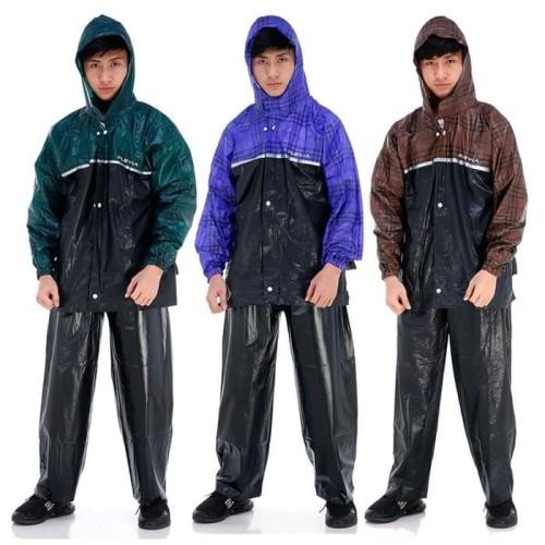 Foto Produk Jas Hujan Jaket Celana Plevia 8110 Rush Backpack - Abu-abu dari Langit Biru