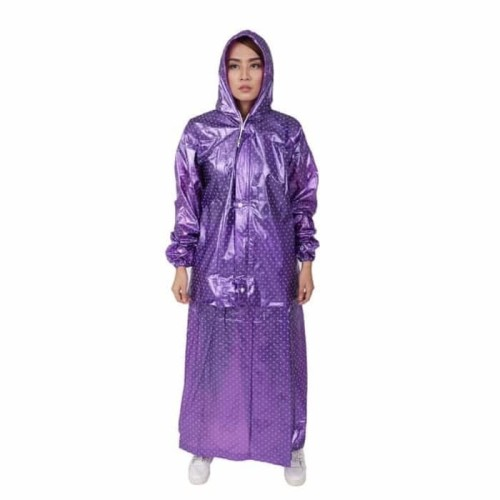 Foto Produk Jas Hujan Rok Polkadot Plevia ROK POP 870 Muslimah Perempuan Mantel - Hitam dari Langit Biru