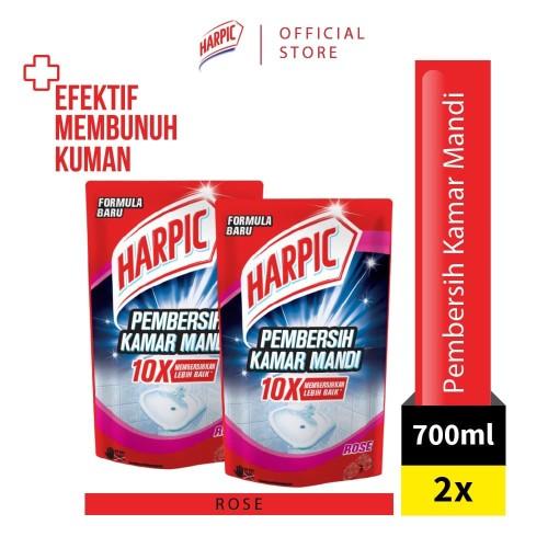 Foto Produk Harpic Pembersih Kamar Mandi Pouch Rose 700ml x2 dari RB Hygiene Home Official