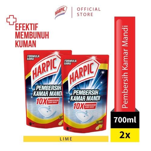 Foto Produk Harpic Pembersih Kamar Mandi Pouch Lime 700ml x2 dari RB Hygiene Home Official