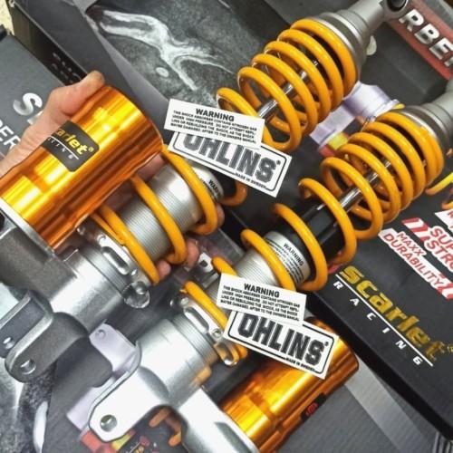Foto Produk shock model ohl** tabung bawah aerox,nmax,xmax,pcx yellow merk scarlet dari motorbaik