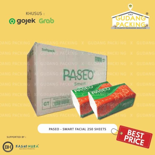 Foto Produk (GOSEND/GRAB) PASEO - Tissue Smart Facial 250 Sheets 2 Ply - Dus, 250 dari Gudang Packing