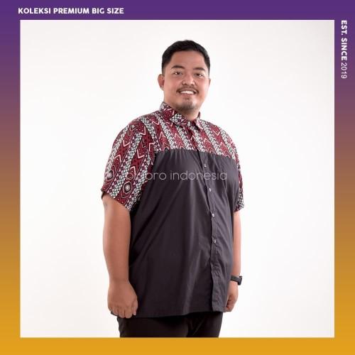 Foto Produk Kemeja Big Size Pria BIG BRO Ukuran Besar Jumbo XXL XXXL Flanel Merah - 3XL dari BIG BRO Indonesia