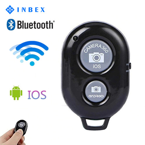 Foto Produk INBEX Bluetooth Remote Control/Remote Selfie Shutter for Android IOS - Hitam dari INBEX Official Store