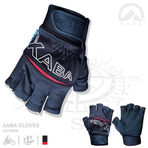 Foto Produk XABA Gloves Outride - Sarung Tangan Motor Half Finger - Merah dari XABA