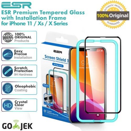 Foto Produk Original ESR Tempered Glass iPhone 11 Pro Max / 11 Pro / 11 - Tough - iPhone 11ProMax, No Full dari GadgetLifestyle Official