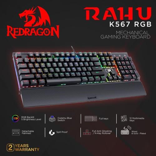 Foto Produk Redragon Mechanical Gaming Keyboard RAHU - K567RGB dari REDRAGON INDONESIA